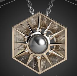 Elie Top- Tahitian Pearl, Gold & Diamond