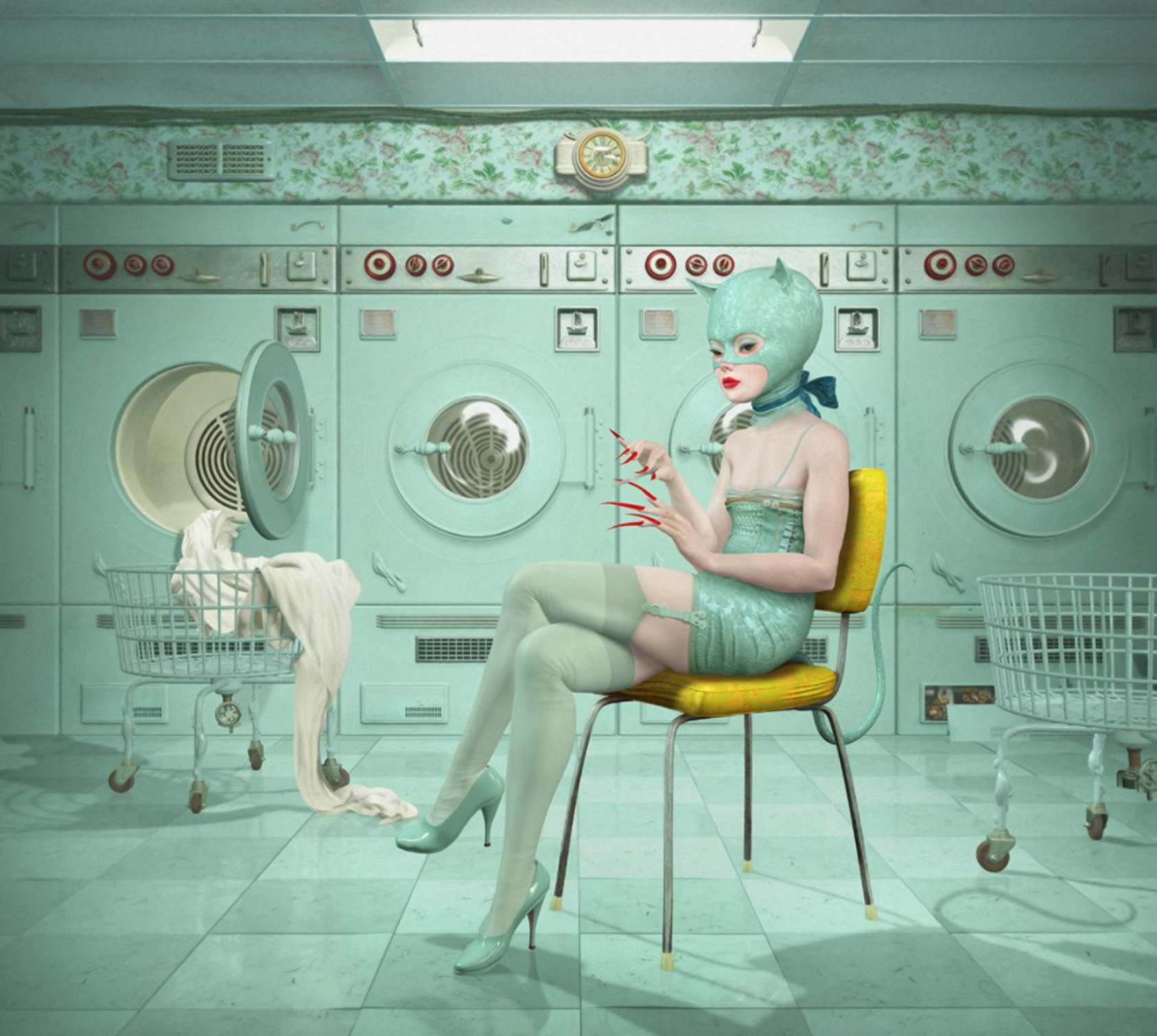 Kat in Laundromat - Courtesy of Ray Caesar/Gallery House