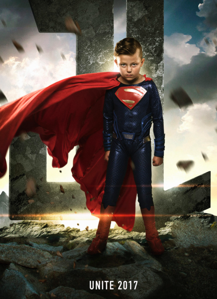 Nine-year-old Teagan Pettit was born with a congenital heart defect as is featured as Superman. Images Courtesy of Josh Rossi