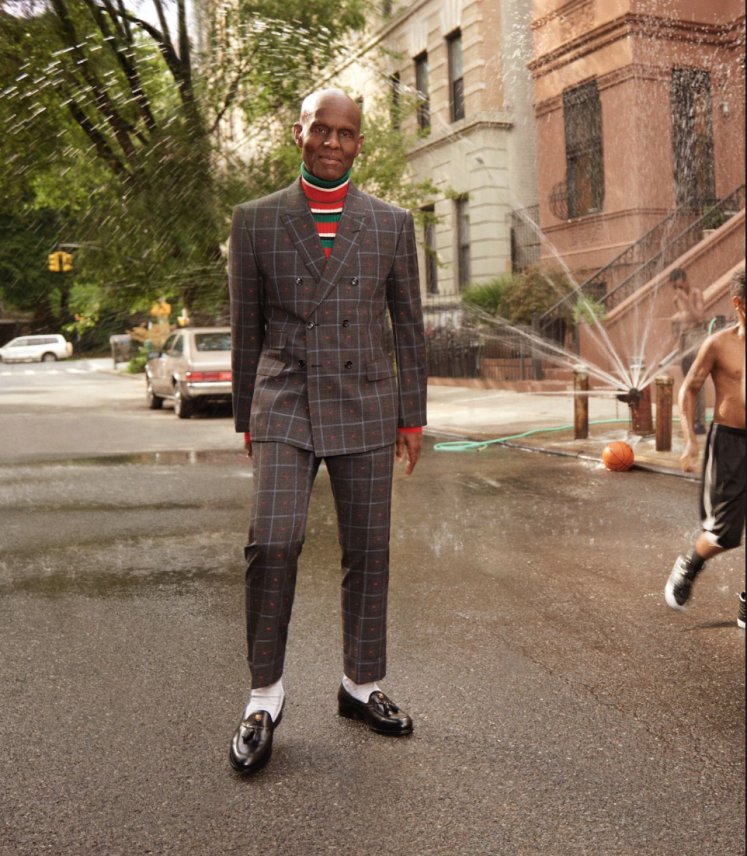 Gucci - The new men's Tailoring campaign features Dapper Dan, the Harlem couturier renowned for the custom designs he created for celebrities, athletes and hip-hop artists in the 80s and early 90s.