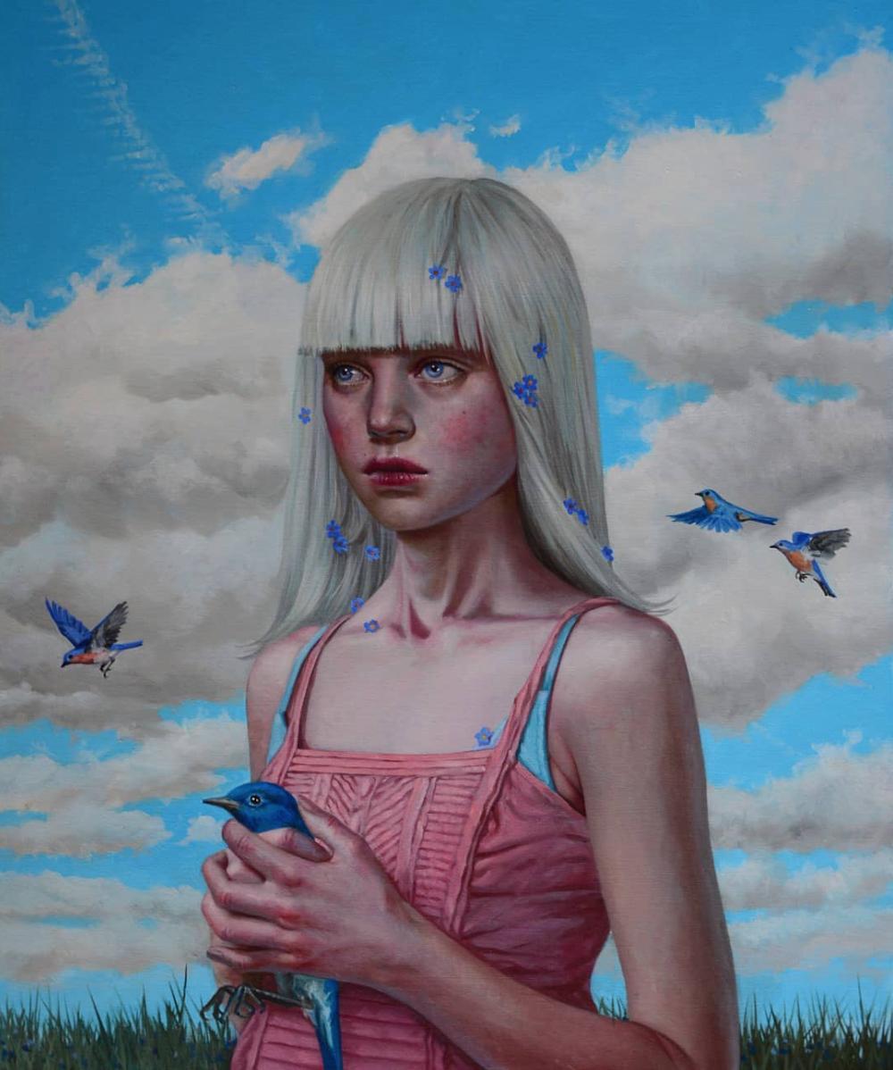 """Summer of Wild Wallflower"" by Jana Brike Courtesy of Gallery House Toronto"
