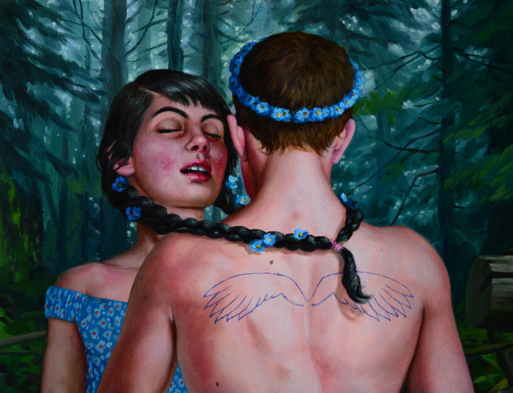 """""""Two angels in deep dark"""" by Jana Brike Courtesy of Gallery House Toronto"""