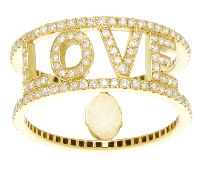 ONLY YOU - LOVE ring Spallanzani Jewels