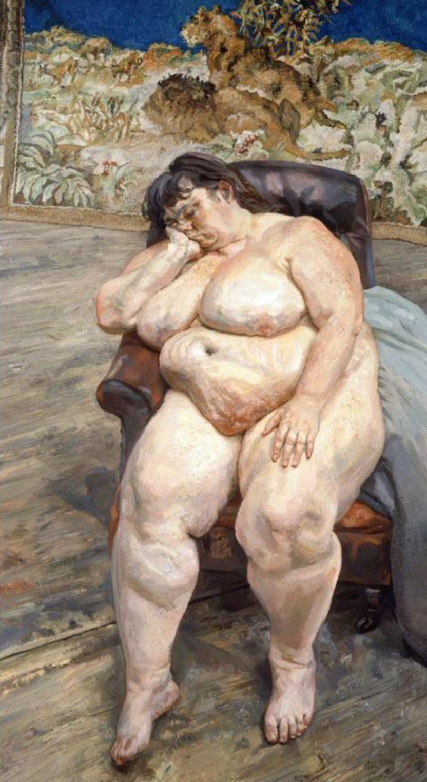Sue Tilley - by Luciano Freud