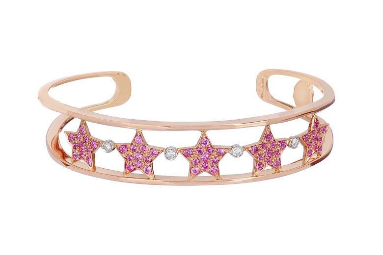 stella starlight bracelet pink sapphires Spallanzani Jewels