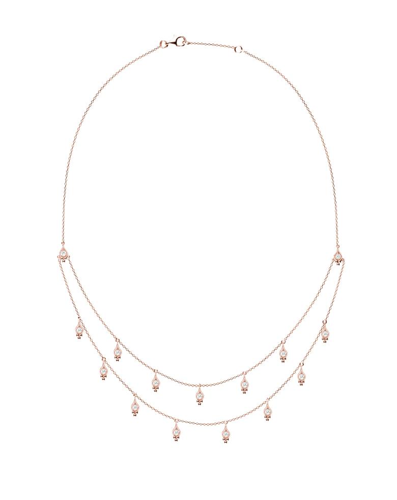 Cry Me A River Collier Or rose et diamants - Stone Paris Jewellery