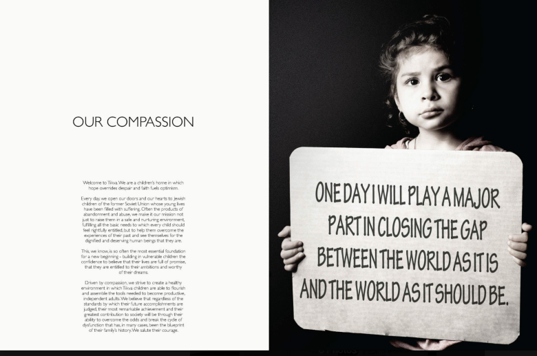 Received International Design Award for this fundraising brochure for an orphanage