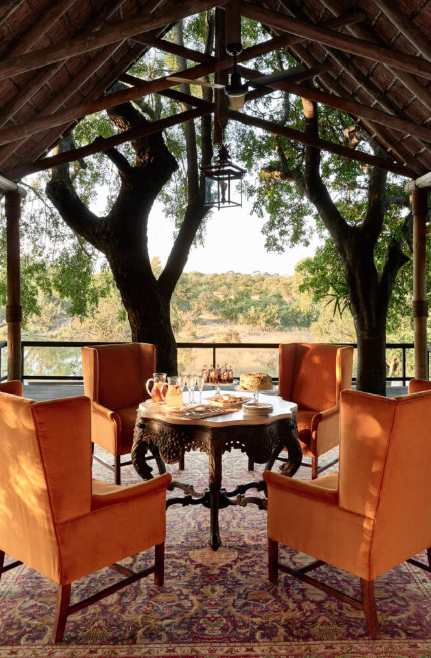 Afternoon tea at the main lodge at Royal Malewane.