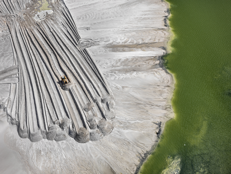 Phosphor Tailings Pond near Lakeland, Florida, USA